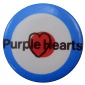 Purple Hearts - 'Target' Button Badge